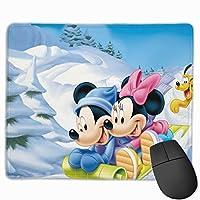 ミッキーとミニーマウスの雪 マウスパッド ゲーミング オフィス最適 高級感 おしゃれ耐久性が良 付着力が強い30x25x0.3cm