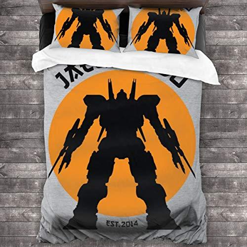 Jaeger Do Pacific Rim Karate Kid Juego de cama de 3 piezas con funda de edredón de 86 x 70 pulgadas, tamaño Queen decorativo de 3 piezas con 2 fundas de almohada