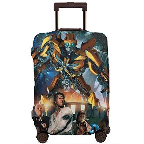 Transformers Bumblebee Movie Travel Funda de Equipaje Protector de Maleta Fundas de Equipaje Lavables