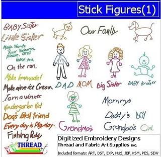 Threadart Machine Embroidery Designs - Stick Figures(1) - USB Stick