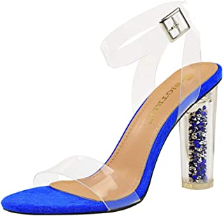 Zanpa Women Fashion Cylindrical High Heel Summer Shoes