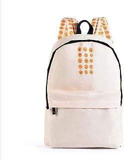 School Bags Student Bag Computer Bag Large Capacity Travel Bag (Color : Orange, Size : 40 * 30 * 14cm) (Color : White)