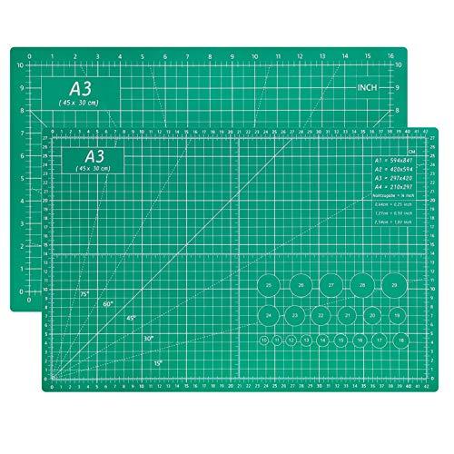 Cutting Mat A3 - Self Healing Sewing Mat, 5-Ply Double Sided Craft Mat...