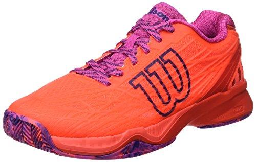 Wilson WRS323420E070, Zapatillas de Tenis Mujer, Naranja (Fiery Coral/Fiery Red/Rose Violet), 41 EU