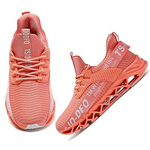 SKDOIUL Zapatillas deportivas para niños y niñas, para tenis, correr, caminar., Rosa., 38 EU