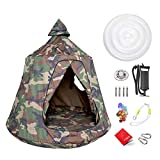 Hanging Tree Tent for Kids Adults, Hanging Tent Indoor Outdoor, Ceiling Hammock Swing Chair, Waterproof Portable Play Tent with Lights String, Max Capacity 220LBS (Camouflage)