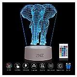 Lámpara LED de luz nocturna 3D - ZNZ 16 colore...