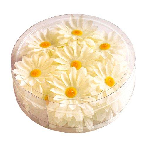 NET TOYS Margeritenblüten Tischdeko weiß-gelb 20 Stück Deko Blumen Margeriten Dekoration Blütendeko