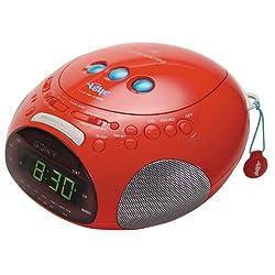 Sony ICF-CD831 PSYC Clock Radio/CD Player (Red)