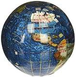 Unique Art 4.3' (110 mm) Diameter Gemstone Globe Paperweight Paper weight (Bahama Blue Swirl)