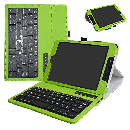 ZenPad Z8s ZT582KL / Z8 ZT582KL-VZ1 Wireless Keyboard Case,Mama Mouth Slim Stand PU Leather Cover with Romovable Wireless Keyboard for 7.9' Asus ZenPad Z8s ZT582KL / Z8 ZT582KL-VZ1 Tablet,Green