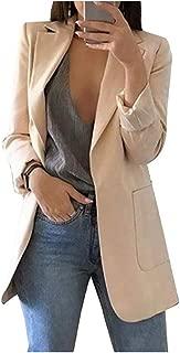 Da Donna Nuovo Blazer Giacca aperta sul davanti Corallo Arancione Donna Plus Size