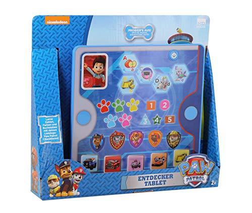 PAW PATROL DES1156 Entdecker Tablet, mit 25 bunten Icons zum Lernen von Zahlen, Farben und Alles Wissenswerte zu den Charakteren