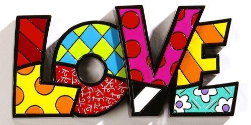 ROMERO BRITTO Word Art - LOVE - Pop Artist from Miami by Britto