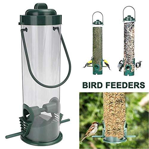 DEDEA Plastic Wild Birds Water Feeder, 4 Port Drinker Dish Hanging Bird Feeding Drinking Station For Home Garden Outdoor