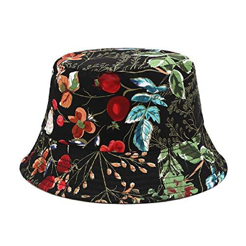 Ins Sombreros De Cubo Con Estampado De Flores Mujer Sombreros De Pescador...