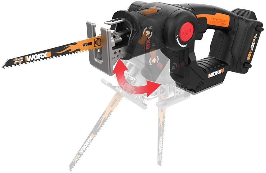 Worx WX550L Share Axis Cordless Reciprocating & Jig Saw