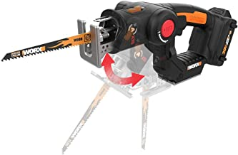 WORX WX550L 20V AXIS 2-in-1 Reciprocating Saw and Jigsaw with Orbital Mode, Variable..