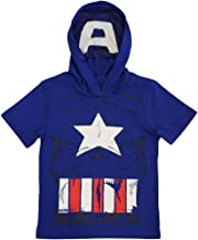 Marvel Avengers Little Boys' Hooded Tee with Mask