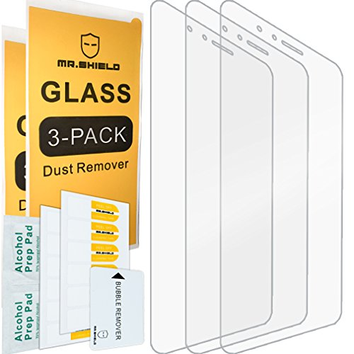 Mr.Shield [3-Pack] for Huawei Honor 8 [Tempered Glass] Screen Protector with Lifetime Replacement