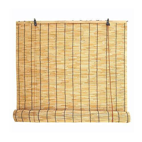 ZXXL Persiana Enrollables Bambú Sombras Exterior Reed Cortina, Persianas Enrollables de Bambú con Filtro de Luz con Guarnición, Decor de Patio/Balcón/Pabellones, Anti-UV, Personalizable