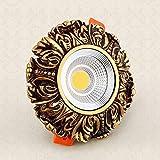 M-zen Resina Retro Europea 3/5 / 7W LED Downlight Super Bright COB Foco Empotrado Lámpara de Techo Redonda Instalación Simple Ahorro de energía Sin decoración estroboscópica Villa Habitación de Hotel