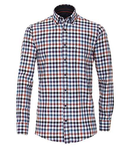 Casa Moda - Comfort Fit - Flanell Hemd kariert mit Button Down-Kragen in 72er Arm (483052502)
