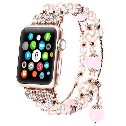 Tomazon Beaded Apple Watch Jewellery Band