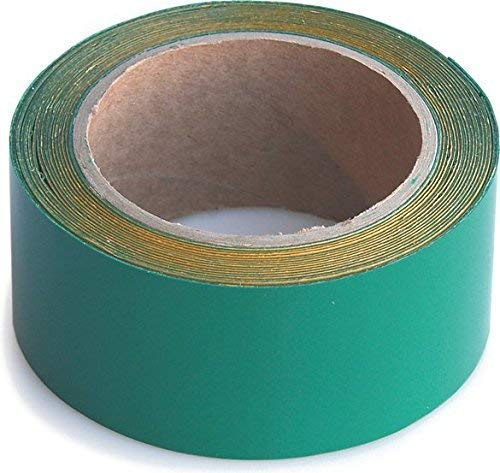Wupsi Cinta de Reparación de PVC - para Lonas, Cubierta de Remolque, Invernadero, Toldo, Carpa, Tienda Campaña y Persianas - Verde, 5 Cm X 5 M ⭐