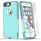 Laiture Phone Case with Screen Protector – Pioneer Series Protective Case, Compatible with iPhone 8/7 Case – Shockproof Double-Layer Shell Smartphone Case (Aqua Mint)