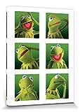 1art1 Muppets - Kermit Galerie Bilder Leinwand-Bild Auf