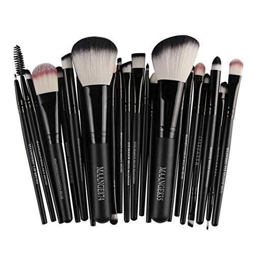 XTR Professionnel Maquillage Brosses Outils Set Maquillage Brosse Outils Kits pour Fard À Paupières Eyeliner Cosmétique Brosses, Noir 22 pcs