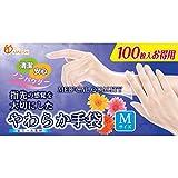 金石衛材 やわらか手袋 ビニール素材 M 100枚