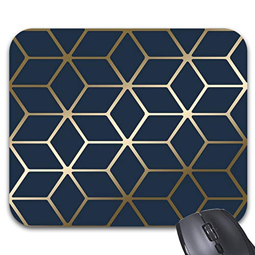 Metallic Navy Blue Mouse Pads Stylish Office Accessories(9 x 7.5inch)