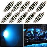 WLJH Festoon Ampoules LED 39 mm 2835 SMD Très Lumineuses Blanc Bleu Glacier Remplacement pour Lumière LED de Voiture Plafonnier...