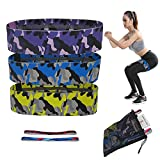 Booty 3 Resistance Bands for Legs and Butt,Exercise Fitness Bands with Guide Workout for Women,Loop Exercise Bands, Glute Bands,Non Slip Squat Bands,2 Headbands Included