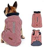 Morezi Dog Coat with Reflective strim, Winter Dog Jacket Vest Warm Puppy Coat with Harness Hole 5 Colors -XXXL - Pink