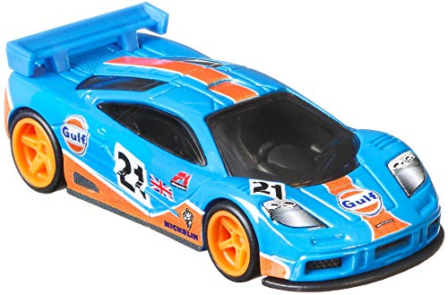 Hot Wheels Mclaren F1 GTR Vehicle, Car Culture Circuit Legends Vehicles for 3 Kids Years Old & Up, Premium Collection of Car Culture 1:64 Scale Vehicles