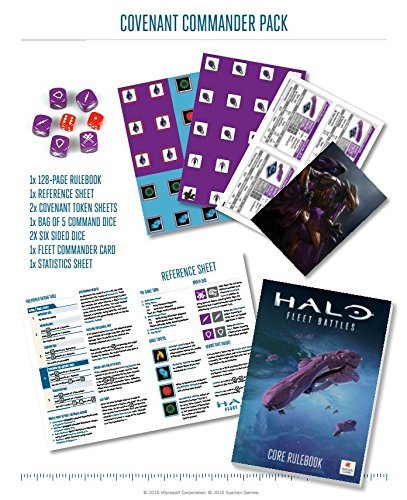Spartan Halo: Fleet Battles Covenant Commander Pack HFCV01 by Games