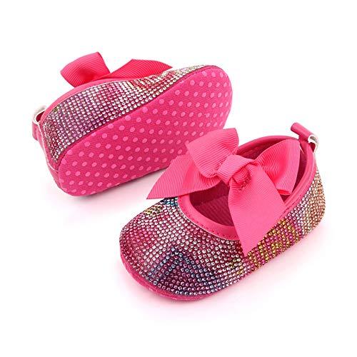 YWLINK Zapatos De Bebé para BebéS Zapatos De Bebé con Bordes De Diamantes De ImitacióN Zapatos para NiñOs PequeñOs Zapatos De Suela Blanda Zapatos Individuales Zapatos De Princesa