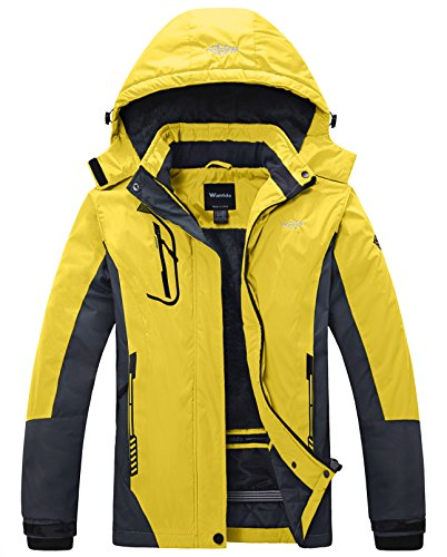 Wantdo Ski Jassen voor Dames Regenjassen Fleece Waterdicht