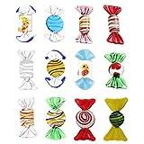 Homoyoyo 12 Piezas de Adornos de Caramelo de Cristal Dulces de Cristal de Murano Vintage Decoraciones de Dulces Artificiales para Regalos Fiesta en Casa Boda Decoración de Navidad (Al