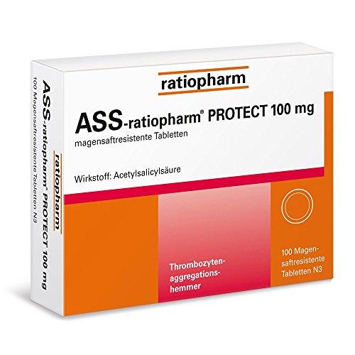 ASS-ratiopharm 100 mg Tabletten, 100 St.