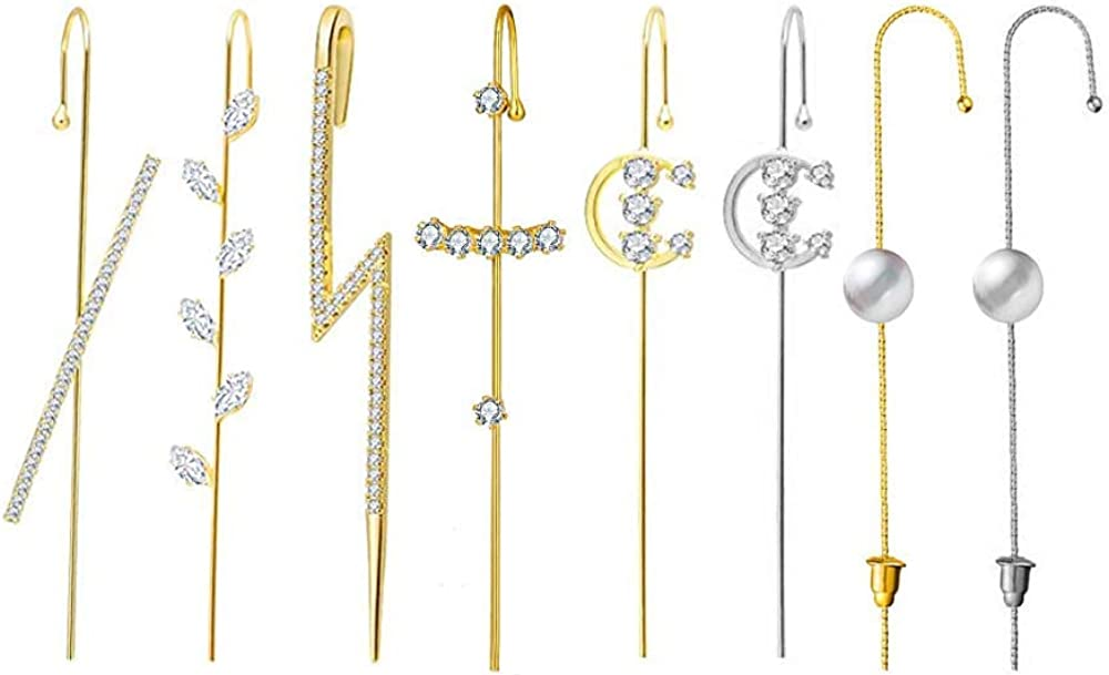 8 Pcs Ear Cuffs Crawler Hook for Earrings Women Cheap mail order sales Piercing Super sale period limited Wr