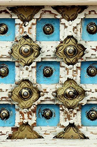 Orientalische Truhe Kiste aus Holz Anik Weiss 60cm | Vintage Sitzbank mit Aufbewahrung für den Flur | Aufbewahrungsbox mit Deckel im Bad | Betttruhe als Kissenbox oder Deko im Schlafzimmer - 5
