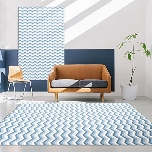 Alfombra Moderna De Estilo Nórdico Alfombrilla Antideslizante Impermeable Gruesa Adecuada para Dormitorio Sala De Estar