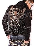 (バンソン) VANSON 当店別注 ボンディング ダブルライダース ジャケット ACV-701 モカシルバー刺繍 XL