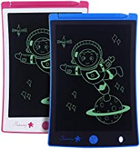 8.5-Inch LCD Writing Tablet 2 Pack,Boys Girls Toys Doodle Board Drawing Board Reusable Doodle Pad,Electronic Drawing Pad Toy for Kids Learning & Education Handwriting Aids (Pink and Blue)