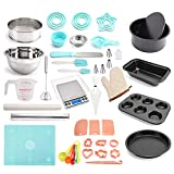59 Pcs Cake Decorating Equipment, DIY Baking Tools & Accessories Set for Beginners Baking Supplies, Electronic Scales, Beaters, Cake Molds, Pizza, Biscuits, Toast Baking Trays
