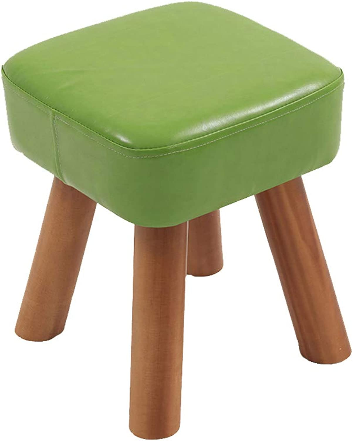 HLJ Simple Change shoes Stool Solid Wood Home Small Bench Fashion Creative Living Room Sofa Stool (Size   28  28  32cm)